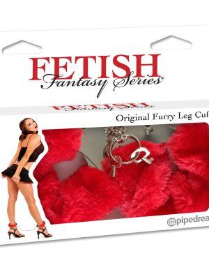 Furry Leg Cuffs Red-0