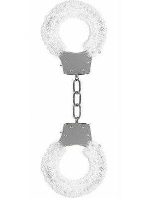 Pleasure Handcuffs Furry - White-0