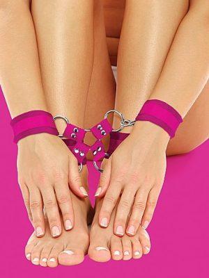 Velcro Hand And Leg Cuffs - Pink-0