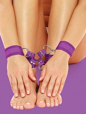 Velcro Hand And Leg Cuffs - Purple-0