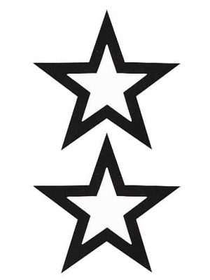 Nipple Sticker - Open Stars - Black-0