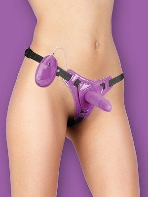 Vibrating Strap-On - Purple-0