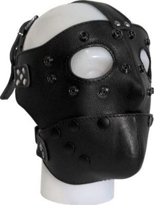 Detachable Leather Face Maski, Nahkaa B632510-0