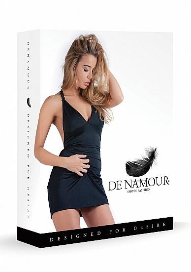 Mini Dress With Open Back - Black L/XL-110418