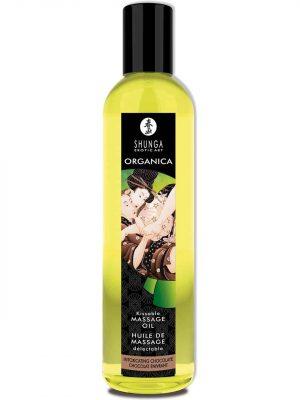 Shunga - Organica Hierontaöljy, Suklaa-0