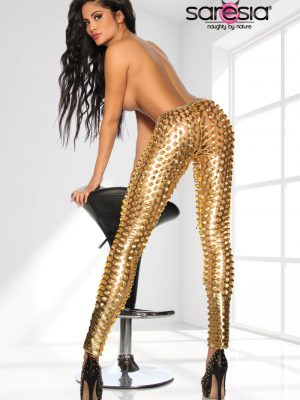 Gold Metallic Leggingsit SA18157-0