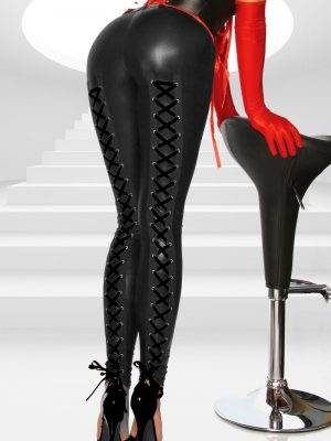 Wetlook Leggingsit Nyörityksin, Black SA11860-0