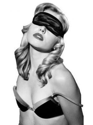 Sex & Mischief - Satin Black Silmänaamio -0