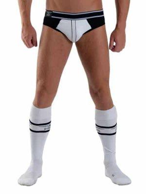 Mister B - URBAN Football Socks, Valkoinen-Musta-0