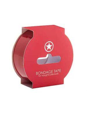 Non Sticky Bondage Tape - 17,5 Meter - Red-0