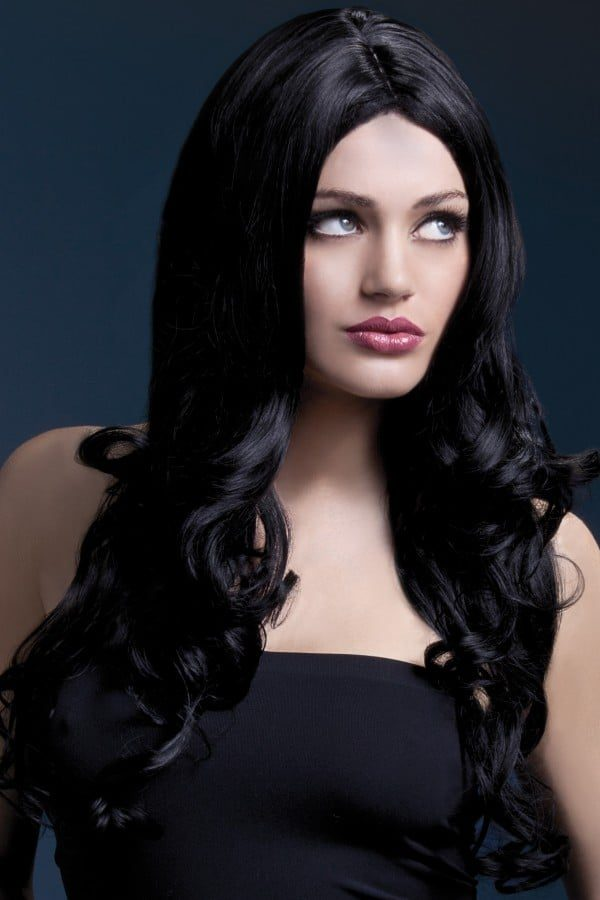 Peruukki Rhianne Musta KE-FV42509-0