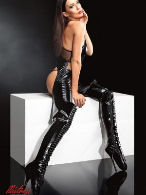 Demoniq - Angela Catsuit Black Set-0