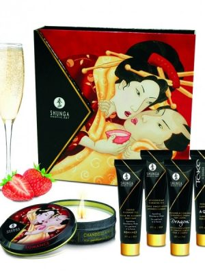 Shunga - Geisha Sparkling Wine Strawberry Lahjapakkaus-0