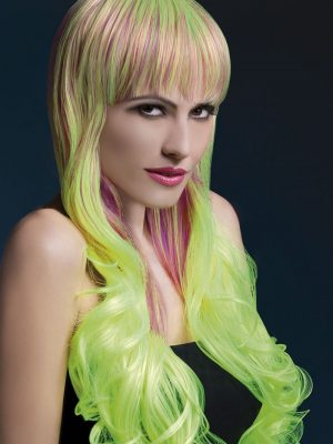 Peruukki Emily Violetti-Keltainen KE-FV42560-0